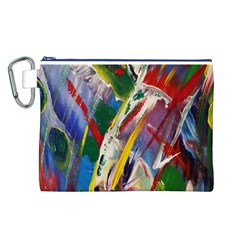 Abstract Art Art Artwork Colorful Canvas Cosmetic Bag (L)