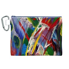 Abstract Art Art Artwork Colorful Canvas Cosmetic Bag (xl)