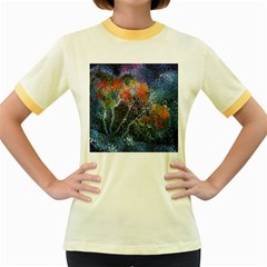 Abstract Digital Art Women s Fitted Ringer T-Shirts