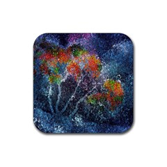 Abstract Digital Art Rubber Square Coaster (4 pack)