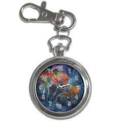 Abstract Digital Art Key Chain Watches