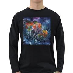 Abstract Digital Art Long Sleeve Dark T Shirts