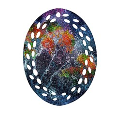 Abstract Digital Art Ornament (Oval Filigree)