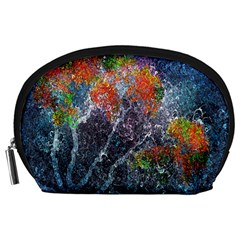 Abstract Digital Art Accessory Pouches (Large)