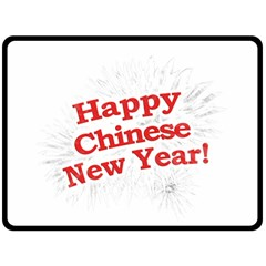 Happy Chinese New Year Design Double Sided Fleece Blanket (large)