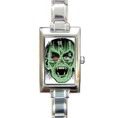 Zombie Face Vector Clipart Rectangle Italian Charm Watch