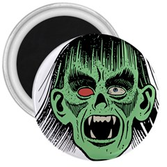 Zombie Face Vector Clipart 3  Magnets