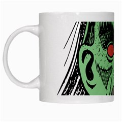 Zombie Face Vector Clipart White Mugs