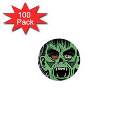 Zombie Face Vector Clipart 1  Mini Buttons (100 pack)