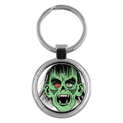 Zombie Face Vector Clipart Key Chains (Round)