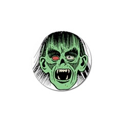 Zombie Face Vector Clipart Golf Ball Marker (4 pack)