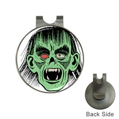 Zombie Face Vector Clipart Hat Clips with Golf Markers