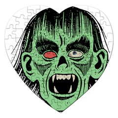 Zombie Face Vector Clipart Jigsaw Puzzle (Heart)