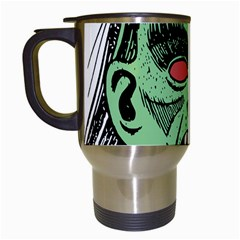 Zombie Face Vector Clipart Travel Mugs (White)