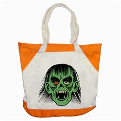 Zombie Face Vector Clipart Accent Tote Bag