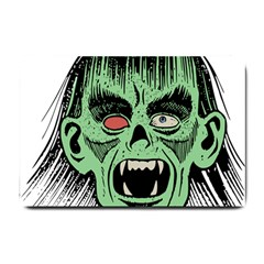 Zombie Face Vector Clipart Small Doormat