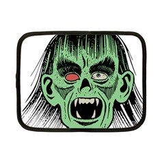 Zombie Face Vector Clipart Netbook Case (Small)