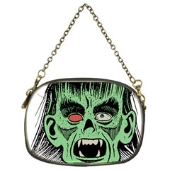 Zombie Face Vector Clipart Chain Purses (Two Sides)
