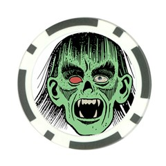 Zombie Face Vector Clipart Poker Chip Card Guard (10 pack)