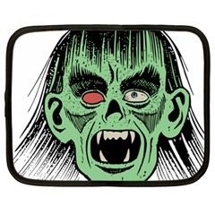 Zombie Face Vector Clipart Netbook Case (XL)