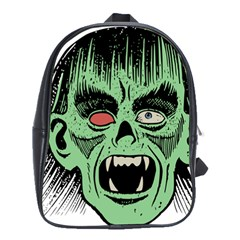 Zombie Face Vector Clipart School Bags(Large)