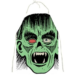 Zombie Face Vector Clipart Full Print Aprons