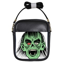 Zombie Face Vector Clipart Girls Sling Bags