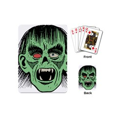Zombie Face Vector Clipart Playing Cards (Mini)