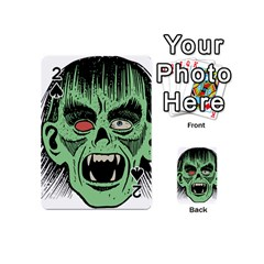 Zombie Face Vector Clipart Playing Cards 54 (Mini)