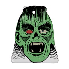 Zombie Face Vector Clipart Bell Ornament (Two Sides)