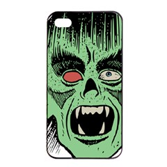 Zombie Face Vector Clipart Apple iPhone 4/4s Seamless Case (Black)