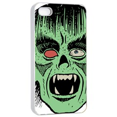 Zombie Face Vector Clipart Apple iPhone 4/4s Seamless Case (White)