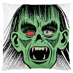 Zombie Face Vector Clipart Large Cushion Case (two Sides)