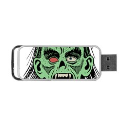 Zombie Face Vector Clipart Portable USB Flash (Two Sides)