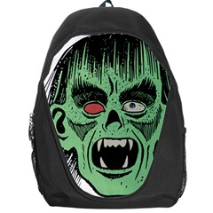 Zombie Face Vector Clipart Backpack Bag