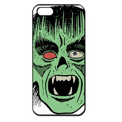 Zombie Face Vector Clipart Apple iPhone 5 Seamless Case (Black)