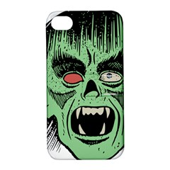 Zombie Face Vector Clipart Apple iPhone 4/4S Hardshell Case with Stand