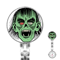 Zombie Face Vector Clipart Stainless Steel Nurses Watch