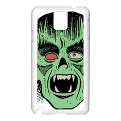 Zombie Face Vector Clipart Samsung Galaxy Note 3 N9005 Case (white)