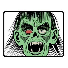 Zombie Face Vector Clipart Double Sided Fleece Blanket (Small)