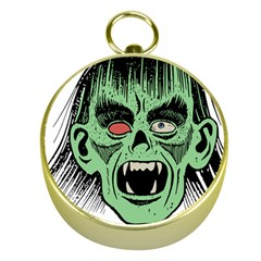 Zombie Face Vector Clipart Gold Compasses