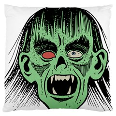 Zombie Face Vector Clipart Standard Flano Cushion Case (One Side)