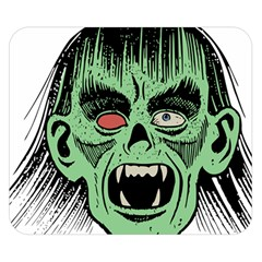 Zombie Face Vector Clipart Double Sided Flano Blanket (small)