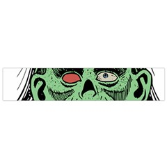 Zombie Face Vector Clipart Flano Scarf (small)
