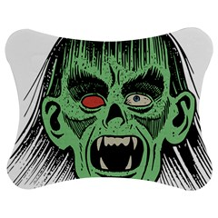 Zombie Face Vector Clipart Jigsaw Puzzle Photo Stand (Bow)