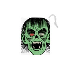Zombie Face Vector Clipart Drawstring Pouches (XS)