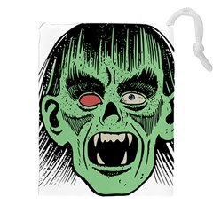 Zombie Face Vector Clipart Drawstring Pouches (XXL)