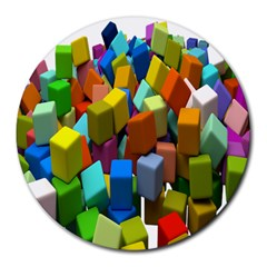 Cubes Assorted Random Toys Round Mousepads