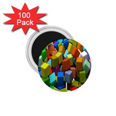 Cubes Assorted Random Toys 1.75  Magnets (100 pack)