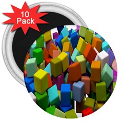 Cubes Assorted Random Toys 3  Magnets (10 pack)